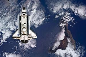 View of Space Shuttle From Space Station