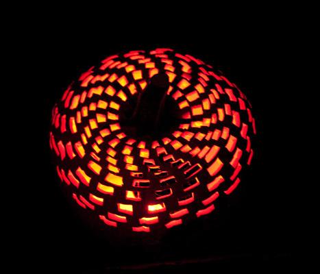Checkered jack-o-lantern