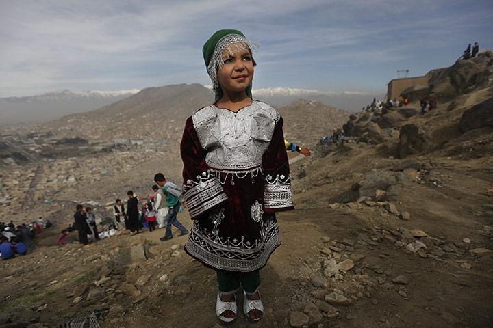 kabul girls dance. Kabul: An Afghan girl poses